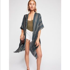 NWT Free People Sunny Afternoon Kimono OS
